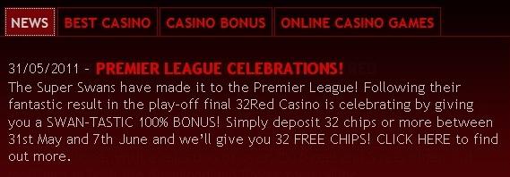 32Red bonus