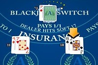 blackjack switch after - player hands changed to 11 and 18 after switching the top cards around.