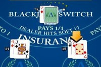 blackjack switch before - player 14 and 15 against a dealer 7.