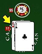 C21 non-blackjack double