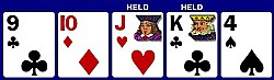9c, 10d, Jh, Kc, 4s. Hold the JK unsuited