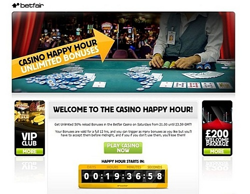 Betfair happy hour