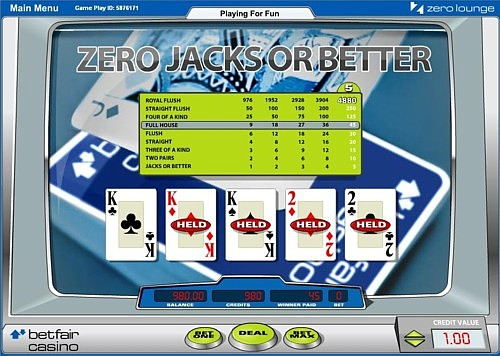 Betfair zero lounge blackjack strategy the best way to play video poker