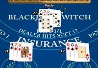 blackjack switch push