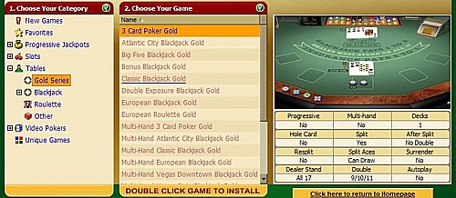 Microgaming Classic Blackjack Gold location