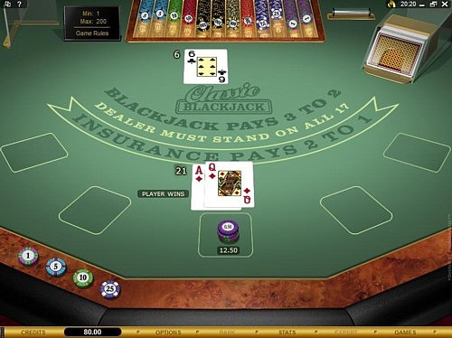 Microgaming single deck blackjack