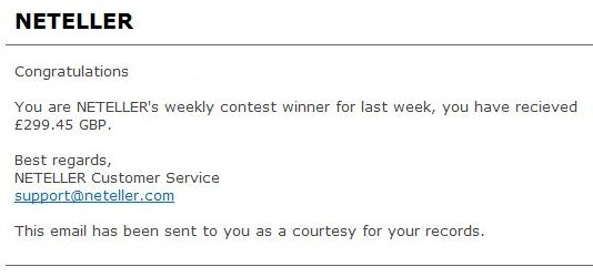 neteller winner email
