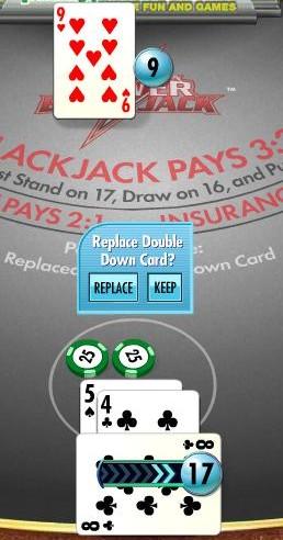 Power double on 9 against dealer 9