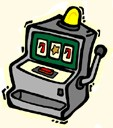 Slot machine cartoon