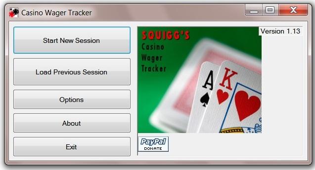 Casino Wager tracker